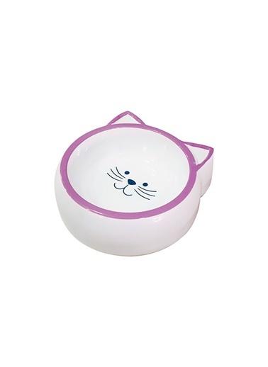 JBL Melamin Mama Kabı Kedi Suratı Şeklinde Mor 210 Ml Renkli